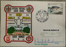 More details for liverpool v manchester united first day cover signed by norman whiteside