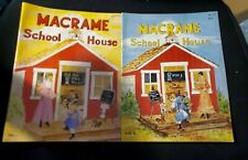Vintage Macrame School House Vol. 1 & 2 Macrame Books 1980 1981