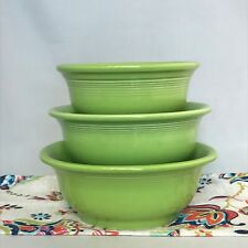 Fiestaware Chartreuse 3 Piece Mixing Bowl Set Retired Limited Green Fiesta NWT
