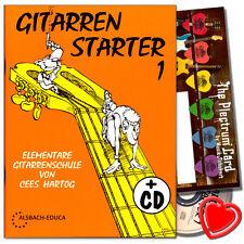 Gitarren Starter 1 - Gitarrenschule mit CD und Plektrum Set - 9990050673372