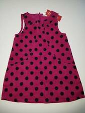 NWT Gymboree Merry And Bright Polka Dot Corduroy Jumper Dress 2 2T