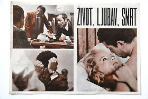 LA VIE L'AMOUR FRENCH LELOUCH 1968 RARE EXYUGO MOVIE PROGRAM