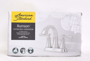 American S. Rumson 4 in. Centerset 2-Handle Bathroom Faucet in Polished Chrome