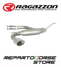 RAGAZZON SCARICO TERMINALE OVALE 135x90mm VW GOLF VII 7 2.0TDi GTD 135kW 183CV