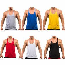 Men Train Bodybuilding Gym Stringer Vest Y Back Racerback Tank Summer Top