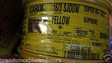 Carol 02605 16/3C Super Vu-Tron Supreme Yellow SJOOW 300V Power Cable Cord /25ft