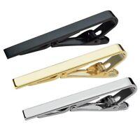 3pcs Tie Bar Clip,Tie Tack Pins Tie Clips Men Silver Gold Black Necktie Bar N6Y9