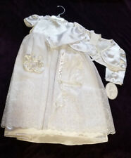 Girls 4 Piece Set Baby Grand Christening Dress 6 - 12 Months