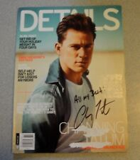 CHANNING TATUM SIGNED 9x11 DETAIL MAGAZINE COVER PAGE AUTOGRAPH