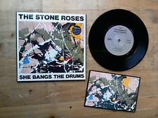 """The Stone Roses She Bangs The Drums 7"""" Single VG Vinyl Record OREX 6 & Postcard"""