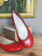 Marc by Marc Jacobs Red Plaque Patent Leather Flats Size 36 Shoes