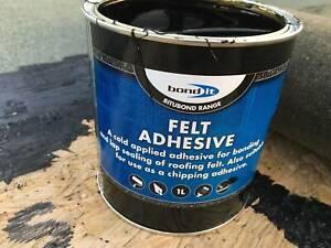 Shed Garage Grit Felt Roof Adhesive DIY Home Repair Fix Cold Tar Bitumen Glue 1L