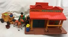 Vintage Fisher Price Little People Play Family Western Town #934