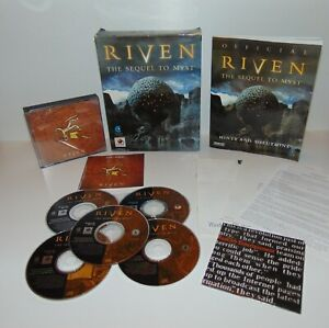 Riven: The Sequel to Myst & Strategy Guide Book   PC Windows   CD-Rom   Big Box