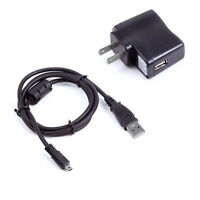 USB AC/DC Power Adapter Camera Battery Charger + PC Cord For Nikon Coolpix P510