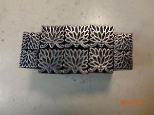 Printing Letterpress Printer Block Antique Flower Ornament Dingbats