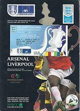 2001 FA Cup Final Arsenal v Liverpool Programme + Ticket