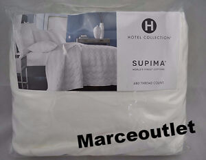 Hotel Collection 680 Thread Count Supima Cotton QUEEN Fitted Sheet White