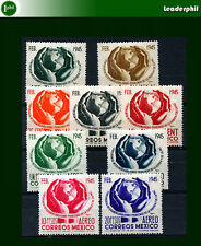 Mexico Yv # 587/90 + A 134/8 Complete Set Mh Vf