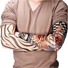 New 6 pcs Set Nylon Temporary Tattoo Sleeve Arm Stockings Tatoo Men Women Sleeve