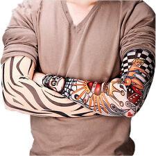 New 6 pcs Set Nylon Temporary Tattoo Sleeve Arm Stockings Tatoo Men Women Sleeve