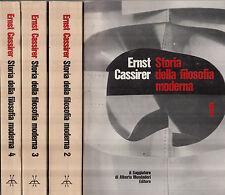 Storia della filosofia moderna. 4 Voll. Cassirer. Il Saggiatore. 1968. CZ1