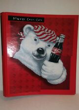 1997 Coca-Cola Polar Bear Red 3 Ring Curved Back Binder Stuart Hall 1 1/2""