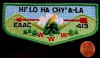 HI' LO HA CHY' A-LA LODGE 413 OA EASTERN ARKANSAS AREA COUNCIL PATCH GREEN FLAP