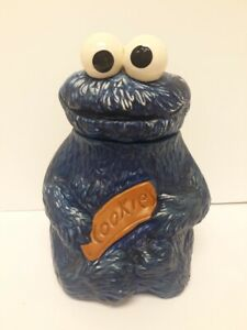 Vintage 1970 Sesame Street Hand Painted Cookie Monster Cookie Jar