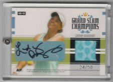 Andre Agassi / Lindsay Davenport -05 Ace Authentic Tennis Auto Jersey Signed /50