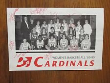 1989  Saint Mary's Womens Basketball Program(14 Signed/LORI  FLAHERTY/MO HYLAND)
