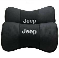 2PCS Leather Car Neck Headrest Pillow Soft Head Neck Rest Cushion fit for JEEP