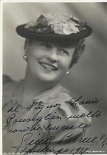 GINA BERNELLI Italian Soprano Original Vintage HANDSIGNED Postcard 1937 RARE