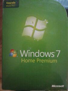 Microsoft Windows 7 Home Premium Upgrade 32 & 64 Bit DVDs MS WIN=NEW SEALED BOX=