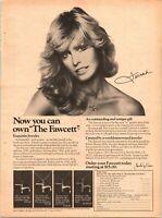 Farrah Fawcett Faucet Necklace Promo Jewelry Offer Model 1977 Vintage Print Ad