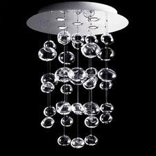 Modern Crystal Pendants Glass Bubble 5-Light Flush Mount Ceiling Lighting 110V