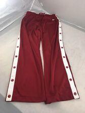 Euc Authentic Nike Snap Pants Mens Medium Maroon with white stripes