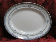 Royal Doulton Mina, Dark Blue Swags, Circles, Urns: Oval Serving Platter, 13.25""