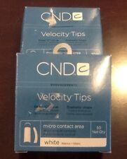 CND Velocity Tips White #8 C Curve 100 Pcs Ships Fast