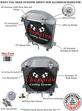 "1917 - 1927 Ford T-Bucket Chevrolet Configuration 4 Row SR Radiator w/ 16"" Fan"