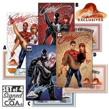 Amazing Spider-Man #2 J Scott Campbell Website Exclusive Signed Set Of 4 W/ COA
