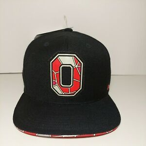 "Ohio State Buckeyes Hat Stained Glass Block ""O"" The Shoe '22 Horseshoe Snap Back"