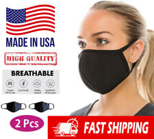 2 Pcs Face Mask - [Made in USA] High Quality Neoprene Reusable Washable, Unisex