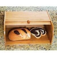 27.3 x 40 x 17.1cm Bamboo Rolltop Bread Box