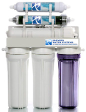 Dual Outlet 150 GPD Reverse Osmosis Water Filter System Drinking/Aquarium RO/DI