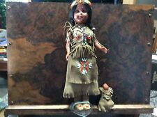 Native American Indian Girl and Baby- Standard Doll Company