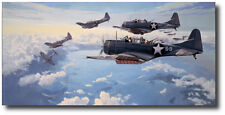 First Hit at Midway by Paul Rendel - Douglas SBD Dauntless - Aviation Art Print