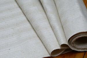 Antikes Leinen natur weiß Streifenmuster Handtuchleinen 52 cm x 540 cm