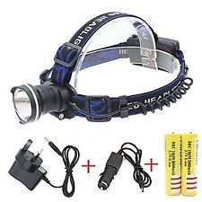 Genwiss 3000 Lumens HeadLight CREE XML XM-T6 LED 3 Mode Waterproof Zoom Focus...