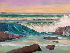 ONSHORE BREAKER Original Seascape Wave Expression Oil Painting 18x24 090317 KEN
